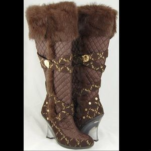 Odessa Baby Phat Boots with Fur